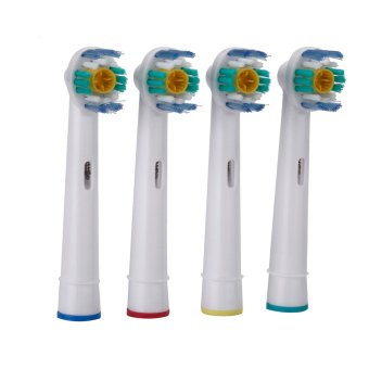 Harga 4pcs Soft Bristles EB-18A Rotary Electric Toothbrush Heads Replacement Oral Hygiene for Braun Oral-B (EXPORT)