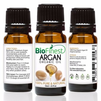 Biofinest Argan Organic Oil (100% Pure Organic Carrier Oil) 10ml