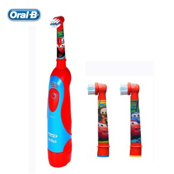 Harga Oral B Children Electric Toothbrush DB4510K Pixar Cars Boys Toothbrush with AA Battery + 2 Rechangeable Brush Heads