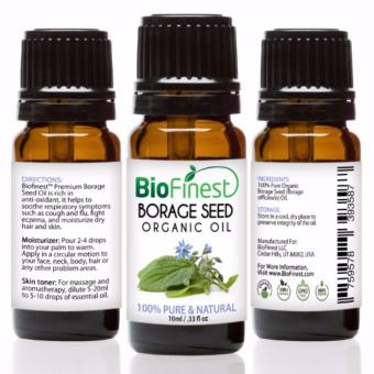 Biofinest Borage Seed Organic Oil (100% Pure Organic Carrier Oil) 10ml