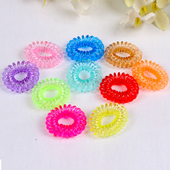 Harga Rubber Hair Ties Band Rope Ponytail Women Hair Ring Rope Ponytail - intl