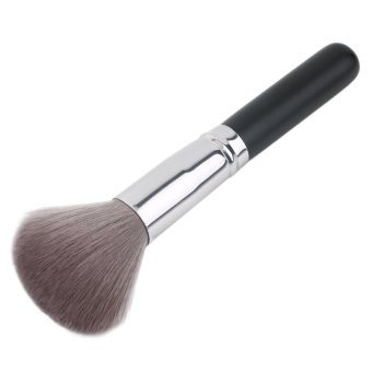 Harga OH 1Pcs Carbon Fiber Face Powder Foundation Contour Blush Cosmetic Makeup Brush Silver & black