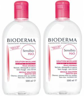 Harga 100% Authentic Bioderma Sensibio H2O 500ml x 2