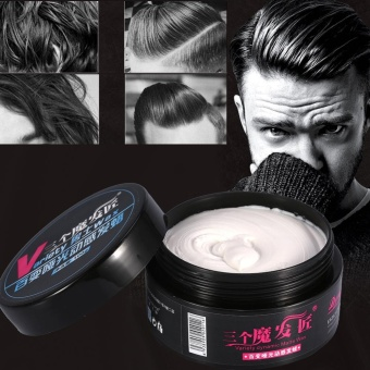 100g/Bottle Men Natural Hairstyle Modeling Styling Wax Longlasting Hair Mud Clay - intl