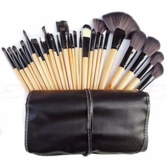 Harga Make-up For You Premium Kabuki Makeup Brush Set Cosmetics Foundation blending blush 32PCS Set Beige