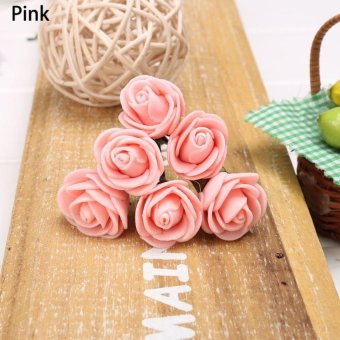 Harga 6Pcs Rose Flower Vintage Style Hair Grips Pin (Pink) - intl