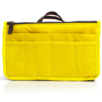 Harga Hang-Qiao Travel Cosmetic Makeup Bag Zipper Handbag Organizer Yellow