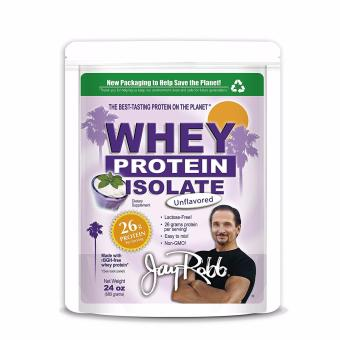 Jay Robb Grass Fed Whey Protein Isolate Powder Outrageously Delicious Unflavored 680g ( Best by Date Jan 2018)