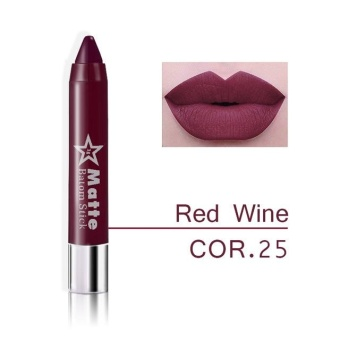 Miss Rose Brand lips Matte Moisturizing Lipstick Makeup Lipsticks Waterproof matte Lip gloss Mate Lipsticks Make up 25 - intl