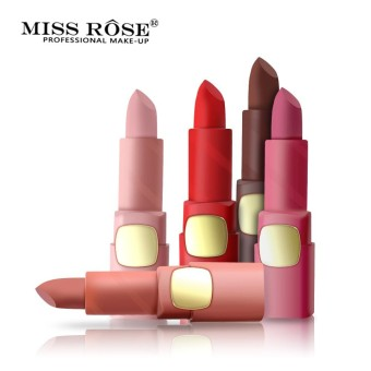 Miss Rose Lipstick Matte lips Moisturizing Makeup Lipsticks Waterproof Lip gloss Mate Lipsticks Make up 33 Color - intl