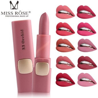 Miss Rose Lipstick Matte lips Moisturizing Makeup Lipsticks Waterproof Lip gloss Mate Lipsticks Make up 53 Color - intl