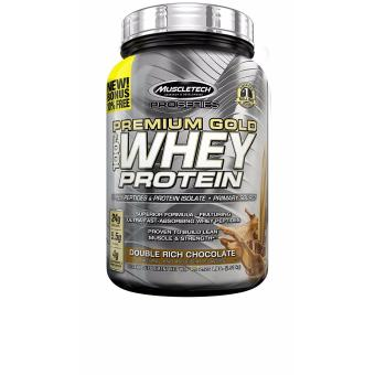 MuscleTech Premium Gold 100% Whey Protein Instantized and Ultra Clean Double Rich Chocolate 2.23 Lbs