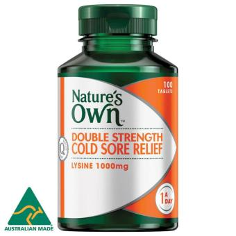 Nature's Own Double Strength Cold Sore Relief / 100 Tablets / L-Lysine 1000 mg