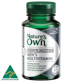 Nature's Own Men's Multivitamin Mega Potency / 60 Tablets / 2 Months Supply / Support Healthy Wellbeing for Men