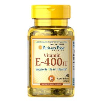 Puritan's Pride Vitamin E-400 IU / 50 Softgels / Item #050858