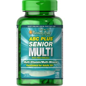 Puritan's Pride ABC Plus(R) Senior Multivitamin Multi-Mineral Formula 120 Caplets / Item #007191