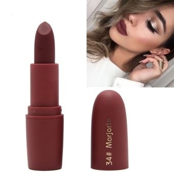 Rainbow Site Miss Rose Beauty Matte Moisturizing Lipstick Makeup Lipsticks Lip Stick Waterproof Lipgloss Mate Lipsticks Cosmetic-#34 Marjorie - intl