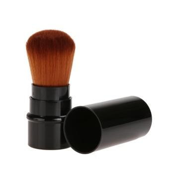 Retractable Cosmetic Brush Makeup Contour Foundation (Black) - intl