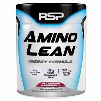 RSP AminoLean Energy & Weight Loss Formula BCAA Powder with CLA for Building Lean Muscle and Burning Fat Blackberry Pomegranate 30 Servings