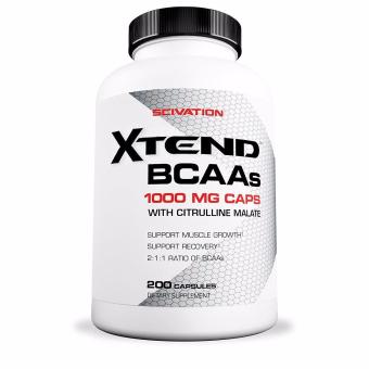 Scivation Xtend BCAAs with Citrulline Malate for Muscle Growth and Strength 200 Capsules With Free Gift
