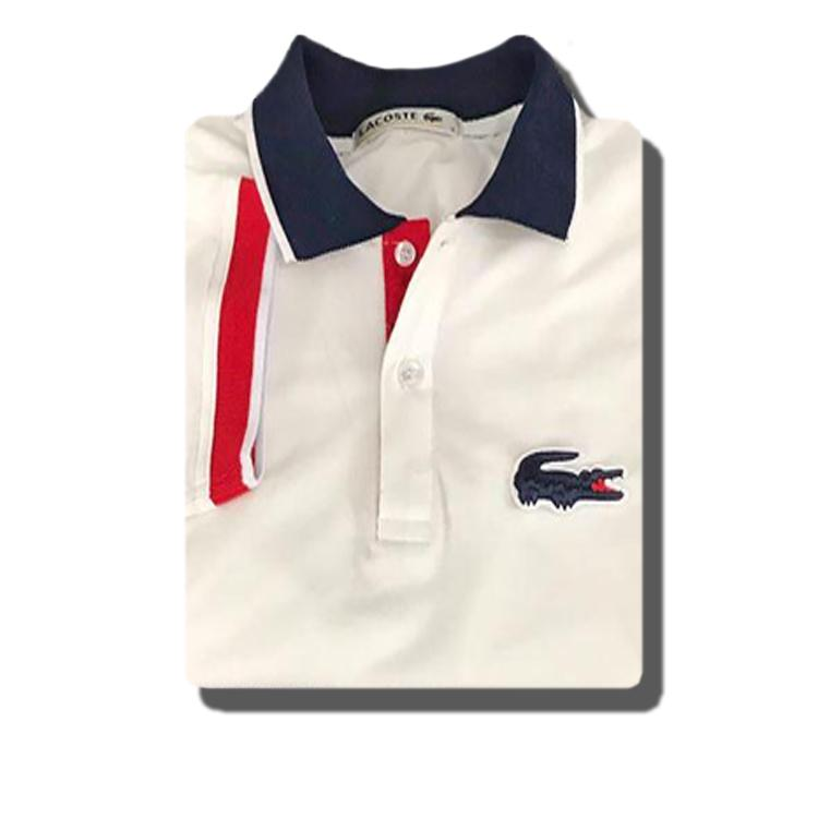 a2ada43dc Product details of Lacoste Polo Shirt White - Red CC White (Navy Blue Logo)