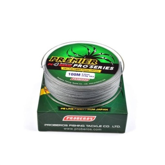 100M/110yards Super Strong PE 4stands Braided Fishing Line 15LBGrey - intl