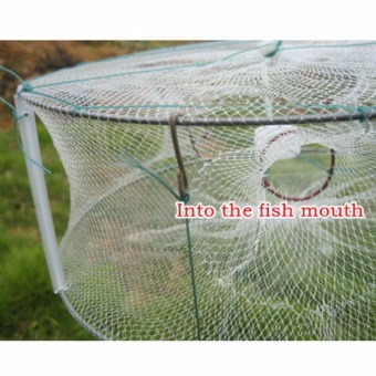 "13""X13"" Fishing Circular Trap Cast Net Crab Fish Minnow Green -intl"