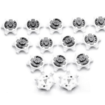 14Pcs Set Rubber Golf Shoes Spike Soft Spikes Fast Twist Octagonal Studs - intl
