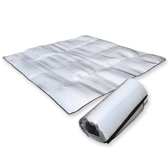 2*2M Double-side Sleeping Mattress Mat Pad Waterproof Aluminum Foil EVA Outdoor Camping Mat (Silver) - intl