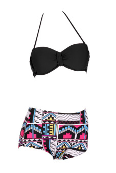 High Waisted Bikini 2-piece Set (Multicolor)