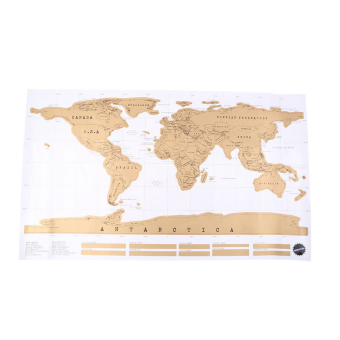 Harga OH Personalized Scratch Off World Map Poster for Travel Vacation Log Gift