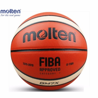Harga Official Molten Basketball Balls GM7X Size 7 PU Material Basketball Ball Outdoor Indoor Training Ballon Free With Net bag+ Pin - intl