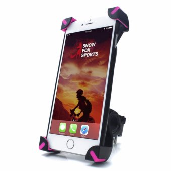 Harga Bike Phone Mount, Universal Bicycle and Motorcycle Mount Phone Holder 360 Degrees Rotatable for Most Smartphone - intl