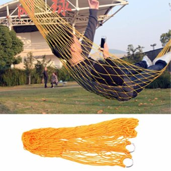 JinGle Nylon Portable Camping Mesh Hammock Hanging Sleeping Bed - intl