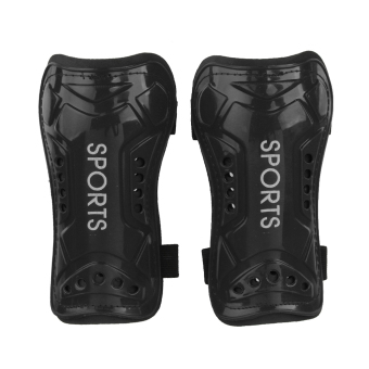 BolehDeals 2x Soft Light Football Shin Pad Guard Sports Leg Protector Kids Adult Black (Intl)