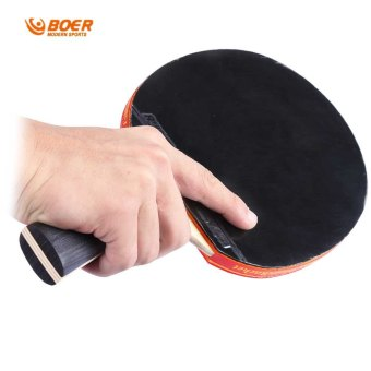Harga BOER S5 Table Tennis Rackets Pimples-in Rubber Bat for Fast Attack Type Player (Intl)