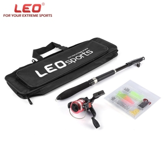Harga LEO 1.6M Telescopic Fishing Rod Set with Fish Reel Hook Lure Tackle