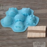 Doraemon cartoon silicone ice cream mold ice cream popsicle ice cream popsicle mold ice lattice ice box Price in Singapore