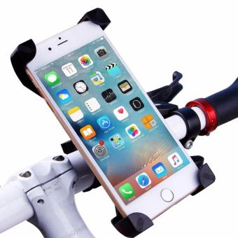Lazy Mount Bracket Bike Phone Holder Stand for iPhone 5 6 6s plus Samsung Bicycle Accessories Cycling Support(Black) - intl