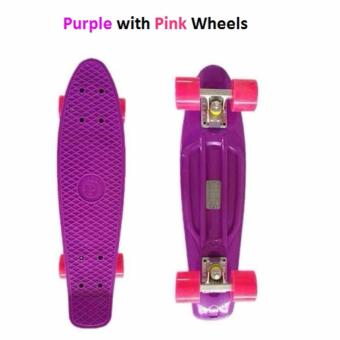 Penny Style Board Skateboard 22 inch (Pink with White Wheels) Scooter / Electric Scooter / Kick Scooter / Skate Scooter / Kids / Children / Adult