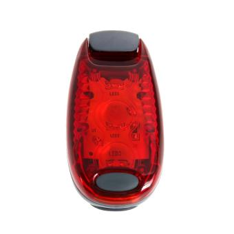 """3 LEDs 2 Modes Waterproof Bike Bicycle Cycling Rear Tail Helmet red"