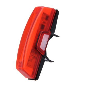 USB Rechargeable Bicycle Bike Front Rear LED Tail Light Waterproof 6 Modes - intl