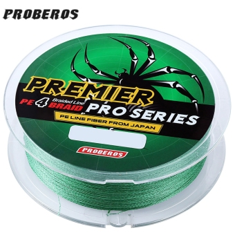Harga PROBEROS 100M Durable Colorful PE 4 Strands Monofilament Braided Fishing Line Angling Accessory (15LBS) (Green)