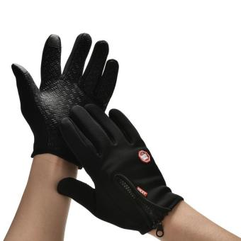 Men Winter Sports Warm Thermal Windproof Ski Snow Motorcycle Snow Gloves L