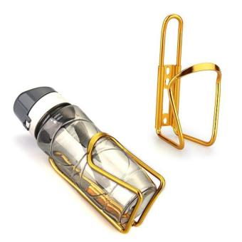 Harga Rainbow Generic Bike Bicycle Cycling Mountain Sport Water Bottle Aluminum Cage Holder Gold(Export)