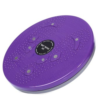 Harga Gym Fitness Slimming Magnetic Therapy Twister Plate (Purple) - intl