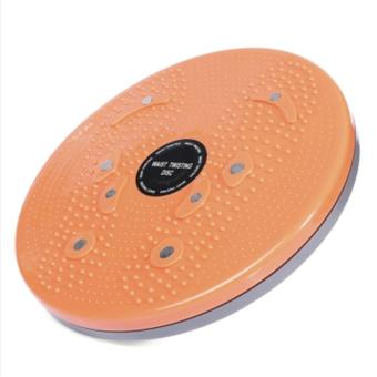 Harga Gym Fitness Slimming Magnetic Therapy Twister Plate (Orange) - intl