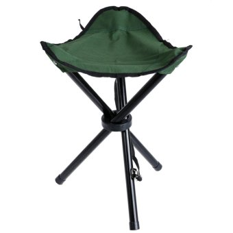 Harga Portable Foldable Three-legged Stool for Camping Fishing Hiking(Green) - intl