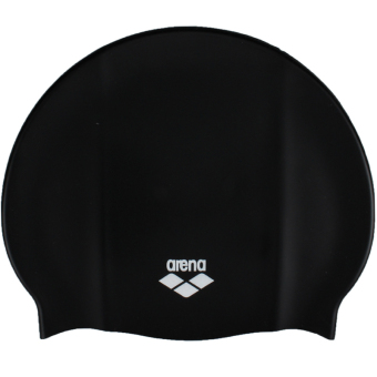 Harga Arena ARN4473-BLK Comfortable Swimming Cap General Silicone Waterproof Large Size Long Hair Large Head Ear Protective Hot Spring Training Swimming Cap/Hat Suitable for Adult Men And Women Black - intl