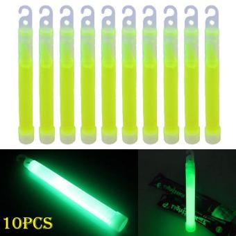 Harga PAlight 10pcs 6inch Industrial Grade Glow Sticks Light Stick Party Camping Emergency Lights Glowstick Chemical Fluorescent - intl